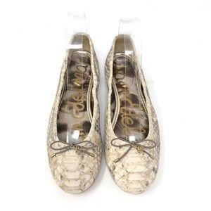 Sam Edelman Felicia Snake Print Ballet Flats SZ 7M